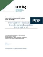 Orden público internacional y Derecho de familia