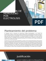 OBTENCION DE HIDROGENO POR ELECTROLISIS