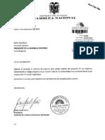Inf 1D Reformas al Código Penal-Niñez-de Ejecución de Penas-Código d la Función Judicial