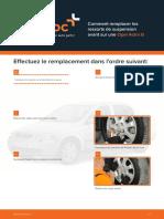 Comment remplacer les ressorts de suspension avant sur une Opel Astra G