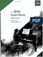 ABRSM Piano Pieces 2017-18 Grade 2