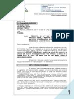 SN a Zoraida ÁVALOS - Proyecto de Ley - Lectura Carpeta Fiscal