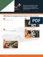 Comment remplacer l'arbre inférieur de la suspension indépendante avant sur une Opel Astra G.pdf