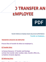 3. IFHRMS - Transfer and Relieve an Employee