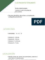 CLASIFICACIÓN DE LOS PACIENTES TOTALMENTE DESDENTADOS (1)