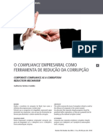 Credidio (2018) - O compliance empresarial como ferramenta de redução da corrupção