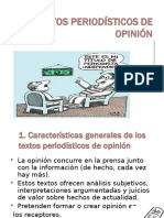 TEXTOS PERIODÍSTICOS DE OPINIÓN