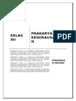 Ringkasan Materi kelas XII KD 3.1, 3.2 Wirausaha Produk Kerajinan untuk Pasar Lokal