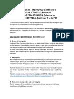 Descricpción Actividades 5 y 6 - Innovación
