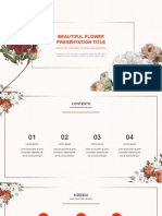 Beautiful Flower Free powerpoint Templates - PPTMON