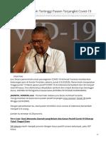 DKI Jakarta Daerah Tertinggi Pasien Terjangkit Covid-19