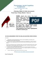 social cognition assignment the devil wears prada