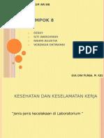 kel 8,k3(jenis jenis kecelakaan di laboratorium)