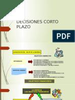 DESICION CORTO PLAZO SESION 12
