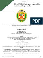 Gobierno del Perú aguilar