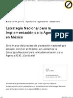Estrategia Nacional para la Implementación de la Agenda 2030 en México _ Agenda 2030 _ Gobierno _ gob