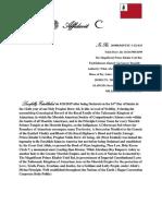 Affidavit of Remonstrance & Establishment