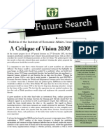 The Future Search - A Critique of Vision 2030