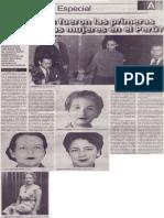 ¿Quiénes fueron las primeras congresistas mujeres en el Perú?
