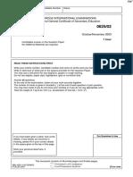 November 2003 QP - Paper 2 CIE Physics IGCSE