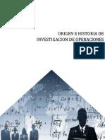 Origen e historia de investigacion de operaciones