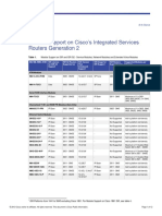 Module Support on Cisco's Integrated Services Routers Generation 2
