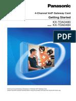 Panasonic 4-Channel VoIP Gateway Card Getting Started KX-TDA3480  KX-TDA0484