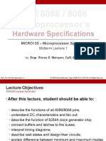 MICRO133-Midterm-Lecture-1-Part-1-Intel-8088-8086-Microcprocessors-Hardware-Specifications