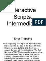 Intro to Interactive Scripts