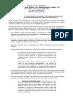 Reiteration of Emergency Protocols