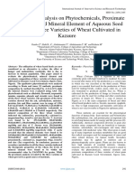Comparative Analysis on Phytochemicals, Proximate composition and Mineral Element of Aqueous Seed Extract of Three Varieties of Wheat Cultivated in  Kazaure