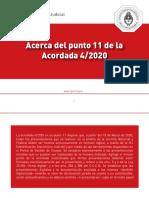 Punto 11 Acordada CSJN 4-2020