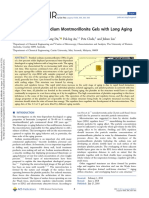 Microstructure of Sodium Montmorillonite Gels with Long Aging Time Scale