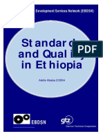 Standards and quality in ethiopia