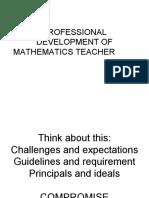 6.PROFESSIONAL DEVELOPMENT OF  MATHEMATICS TEACHER.ppt