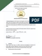 Justice Department Directive