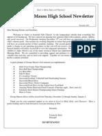 GM Newsletter- December 2011
