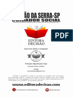 TABOÃO DA SERRA-SP 2020 - CUIDADOR SOCIAL