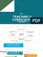 teaching and curriculum design presentation