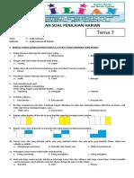 Soal Tematik Kelas 2 SD Tema 7 Subtema 1 Kebersamaan di Rumah dan Kunci Jawaban - www.bimbelbrilian.com .pdf