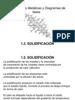 1.2 Solidificación