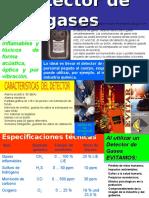 CARACTERISTICAS DETECTOR DE GASES