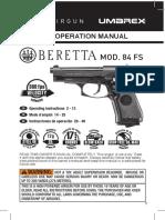 Manual Beretta Model 84 FS 2253015 EN FR SP 07R13