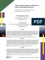 Espaço e Cartografia Teoria Do Espaço e Avaliações Da Cartografia e Das Paisagens Pictóricas