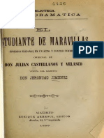 Castellanos y Velasco Julian - El estudiante de Maravillas Episodio nacional en un acto y cuatro cuadros original