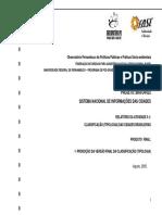 Projeto BRA04022 Sistema Nacional de Informações Das Cidades Relatória Da Atividade 5.1 Classificação Das Cidades Brasileiras Proposta de Tipologia Das Cidades Brasileiras I I I – Resultados Finais