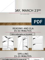 daily pacing guide - march 23rd