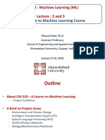 Machine Learning Lecture_2 and lecture_3