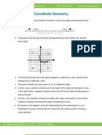 Math Worksheet-Co Ordinate Geometry