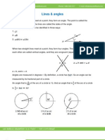 Math Worksheet-Lines and Angles